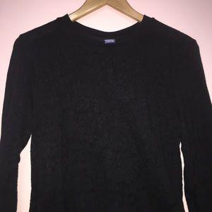 Casual Black Long Sleeved Shirt